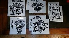 Lot of 10 Gumball 3000 Team Galag Stickers From The 2013 Rally