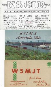 UNITED STATES - SMALL LOT QSL CARDS #4 AMATEUR RADIO