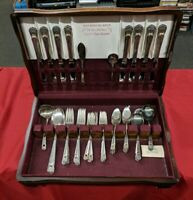 56? Pc ETERNALLY YOURS Flatware Set 1847 Rogers Bros 1941 2 Tier Orig. BOX 1941