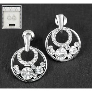Ornate Circle White Gold Earrings from Equilibrium