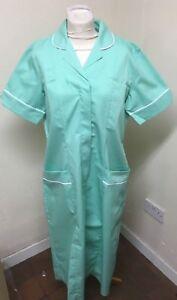 Unicorp Aqua White Trim Ladies Dress Nurse, Vets, Care, Uniforms