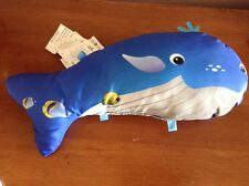 BABY EINSTEIN DISNEY NEPTUNE OCEAN ADVENTURE BLUE WHALE INFANT ACTIVITY PILLOW