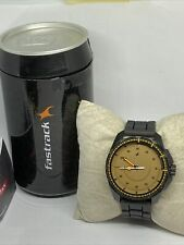 Fastrack NG3084NP01C Men's Black Silicon Analog Brown Dial Quartz Watch TH101