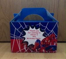1x Spiderman Personalised Party/food Box Party Favour