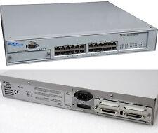 """48CM 19"""" RACK 24-PORT NORTEL NETWORKS NETZWERK ETHERNET SWITCH BAYSTACK 450-24T"""