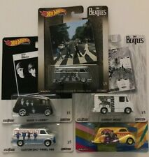 Hot Wheels 2019 Pop Culture The Beatles, 1/64 Diecast Cars, Set of 5 DLB45-946C
