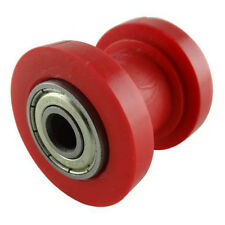 Red 10mm Chain Roller Slider Tensioner Guide Pulley Dirt Pit Bike Motorcycle