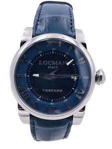 Orologio Locman Toscano Automatico Ref590BL/900 42mm Blu Scontatissimo Nuovo