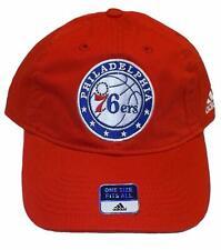 97e71aac233 Philadelphia 76ers Cap Slouch Style Adjustable Logo Hat Team Red NBA  Headwear