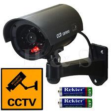 Alta Qualità FAKE DUMMY CCTV Telecamera di sicurezza lampeggiante LED Indoor Outdoor NERO