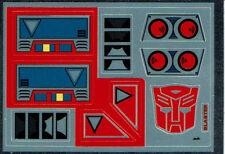 Transformers GENERACIÓN 1, G1 Autobot Blaster REPRO Etiquetas/Pegatinas