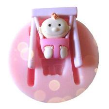 Silicone Swing Baby Girl Fondant Chocolate Sugar Craft Cake Baking Mold ☆