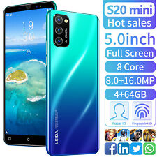 "Original 5"" Smart Mobile Cell Phone Cellphones 4+64GB 4g LTE Android 9.1 Blue"