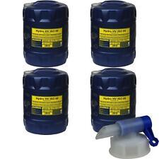 4x 20 Liter Original MANNOL Hydro HV ISO 68 HVLP 68 Hydrauliköl Oil Öl