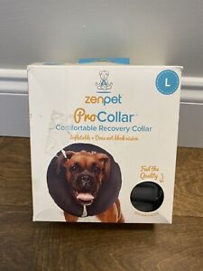 ZenPet ProCollar Inflatable Recovery Collar Grey Size Large In Box