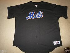 New York Mets MLB Majestic Baseball Black Edition Jersey 3XL 3X mens