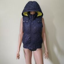 Roxy Purple Genuine Down and Feather Puffer Vest Jacket with Hood