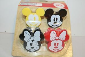 NEW DISNEY STORE EATS MICKEY MOUSE SILICONE SET OF 4 BAG CLIPS BNWT