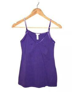 AMBIANCE: Women's Size M, Purple, V-Neck Camisole, Tank Top, Spaghetti Straps