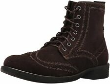 Men's * Eastland * Bennett Classic Wing Tip Lace Up Boot Brown Suede