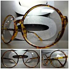 OVERSIZE VINTAGE RETRO Style Clear Lens EYE GLASSES Round Tortoise Fashion Frame