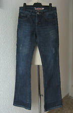 MANGUUN totally destroyed JEANS W 27 L 32 Stretch blue straight Boot-Cut