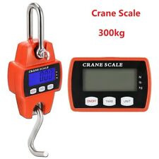 Portable Electronic Crane Scale 300kg Industrial Hanging Hook LCD Digital Weight