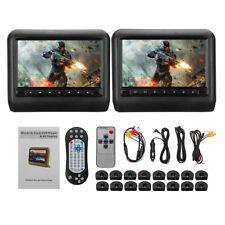 "9""Inch Black Car Headrest Monitors DVD AV Player USB/SD/HDMI/FM/ Games LCD Touch"