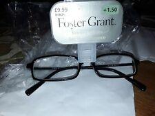 FOSTER GRANT READING GLASSES +1.50  NEW IN PACK