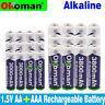 1.5V AAA 3000mAh Alkaline Rechargeable battery + 3800 mAh AA Alkaline