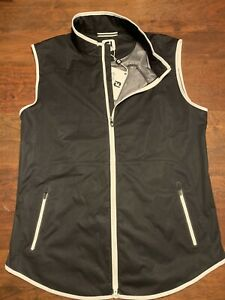 Footjoy NWT Black Lightweight Softshell Vest, Full Zip Golf Womens L