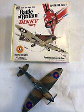 WORKING VINTAGE DINKY TOYS RAF SUPERMARINE SPITFIRE WW2 FIGHTER PLANE BOXED VGC