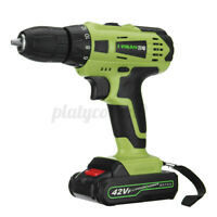42V Rechargeable 7500mAh Electric Drill Cordless Wrench Screwdriver Tool Yellow