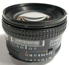 Nikon AF Nikkor 20mm f/2.8 D Wide Angle Prime Lens UK Fast Post