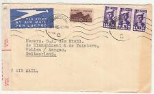 South Africa: WW2 Censored Airmail Cover; Henry Losh, Joburg to Switzerland,1945