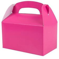 24 HOT PINK COLOR TREAT BOXES Birthday Party Loot Goody Bags #ST18 FREE SHIPPING