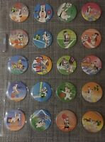 A Complete Set Of 20 Shell SOG DROOPY Coca Cola Pogs Tazos