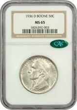 1936-D  Boone Commemorative Silver Half Dollar - NGC MS 65 - Mint State 65 CAC