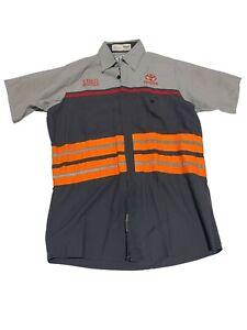 Toyota Reflective Hi Visibility HV Vescolift Red Kap Technician Shirt Mechanic