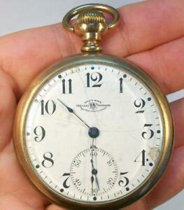 Old Vintage Signed - Official RR Standard BALL WATCH Co. Pocket Watch *AS FOUND*
