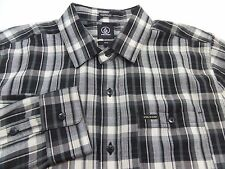 New Volcom Plaid Button Shirt Mens Size Medium M Retail $60