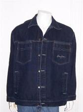 MENS SEAN JOHN DARK DENIM JEAN JACKET SIZE XXL UNDERARM-UNDERARM 28""