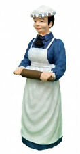 Dolls House Victorian Cook with Rolling Pin Miniature Resin Figure 1 12 People