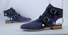 NEW!! Aquatalia- Double Monk Strap Sandal- Blue Suede -Size 10 M (P15)