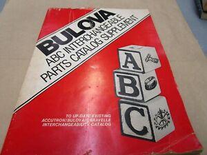 Vintage Bulova ABC Interchangeable Parts Catalog Watchmaker Literature