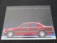 1992 Mercedes Benz 500E Rare Intro Brochure W124 E500 V8 Sales Catalog 1993 1994
