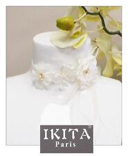 Luxus Halskette Kette IKITA Paris Hochzeit Braut Perlen Stoff Halsband