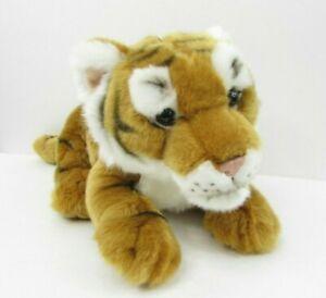 "FAO Schwarz Tiger Plush Cub Stuffed Animal Cat Soft Toy 12"" EUC"