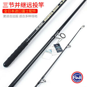 14ft Powerful Sensitive 3 Pieces Surf Rods Fuji Guides and Reel Seat CW:100-250g