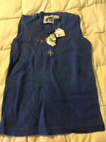 NEW WOMENS STORYBOOK KNITS PERIWINKLE BLUE TANK TOP SHIRT SIZE XS X-SMALL